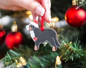 Bernese Mountain Dog Christmas Decoration - Wooden