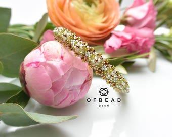 Gretarn Bangle bracelet, PDF tutorial