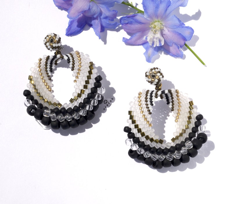 Stripe Earrings Light universal medium size casual style chandelier earrings with stripes variations inspired by Art Deco