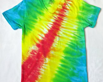 f023a50b2eec4 Tie Dye Shirt Yellow and Red Sun Energy Spiral Mens/Unisex | Etsy