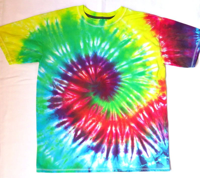 401985498b2d9 Rainbow Spiral Tie Dye Shirt, Mens/Unisex Size Large, Ready to Ship