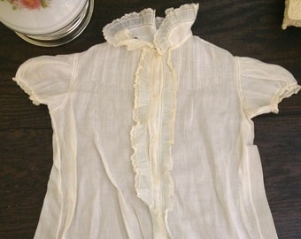 Antique Baby Gown/Antique Baby Dress/Cotton Baby Dress