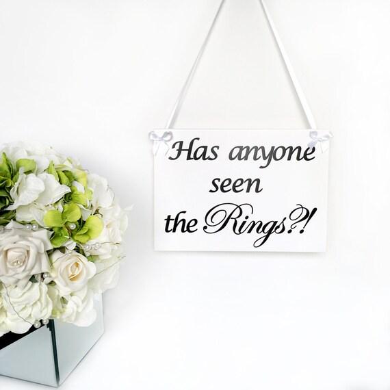 Hochzeit Zeichen Hat Jemand Die Ringe Gesehen Etsy