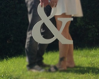 Large ampersand Alternative guest book Wedding Engagement photo shoot prop Extra large letters Wedding guest book alternative