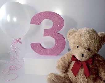 First birthday party number Giant 12inch number Princess party Girls birthday party decoration Photo prop Party decoration Princess party