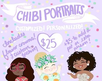 Custom Digital Chibi Portrait