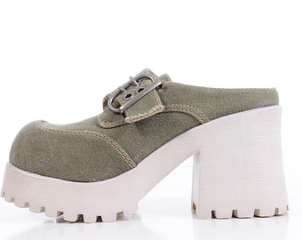 """7/"""" Silver 80s Club Platform Festival Go Go Dancer Boots Shoes Womans size 8 9 10"""