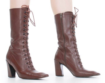 d4bccda85988 Vintage MIU MIU Granny Boots Made in Italy Size 36.5 - 6.5