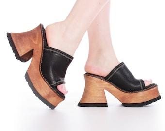 474adc6ec0f2 90 s Platform Sandals Vintage London Underground Women s Size 8