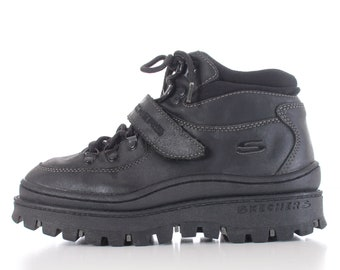 40791b4b479aa 90s Vintage Platform Skechers Jammers High Top Boots Size 9