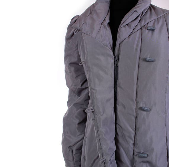 9b43c61554 Quilted Puffer Coat 80s Clothing Long Puffer Jacket Ski Coat