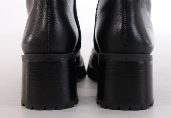 Chunky Brazil Platform 37 Block 4 Boots in US Leather Boot Vintage 5 Black 5 6 Ankle EUR 6 90's Heel Chelsea Made UK Minimalist 5 Goth TP5qd