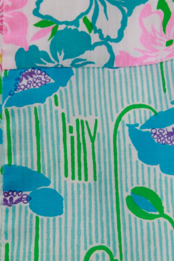 1960s Lilly Pulitzer The Lilly Patchwork Cotton M… - image 9