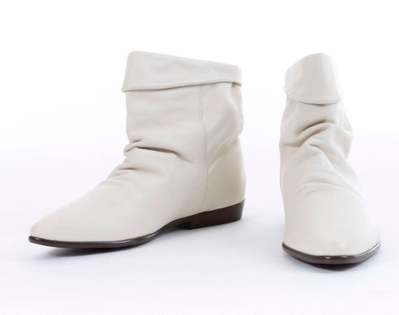taille 5 cheville femmes bottes blanc 5 ann Cuir XHw1xpqIn