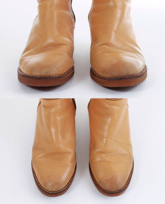 Tall Austria Campus Boots Vintage Women's 8 US in Boots UK6 5 70s Lined EUR39 Made Hippie Faux Boots Leather Boho Fur 5 Boots 8 5 Riding xtUwqwO7