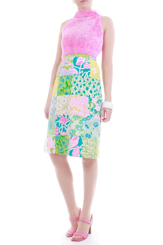 1960s Lilly Pulitzer The Lilly Patchwork Cotton M… - image 2