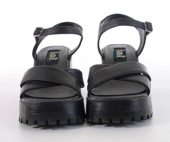 0b9df047bb1c ... Block Size EUR36 Sandals Leather Grunge 90 s Chunky Lolita 37 Vegan Shoes  LEI Women s Platform 6 ...