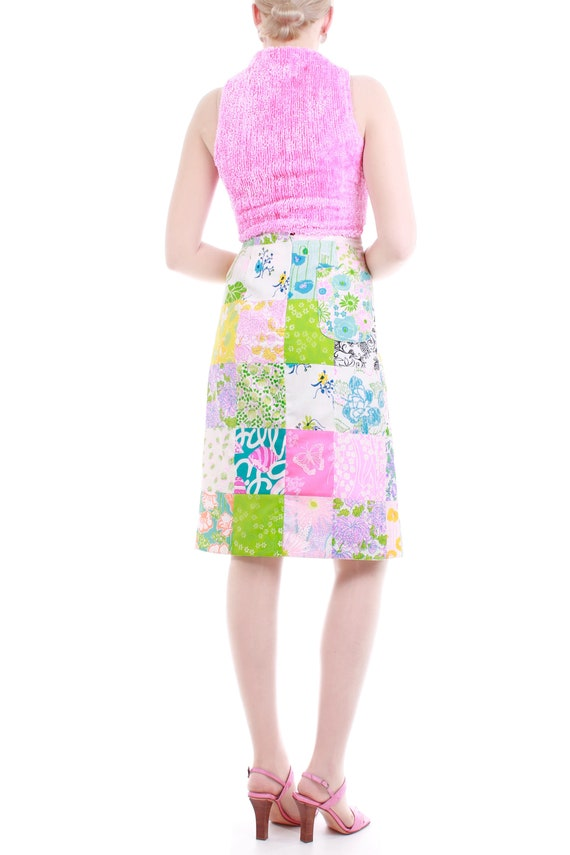1960s Lilly Pulitzer The Lilly Patchwork Cotton M… - image 3