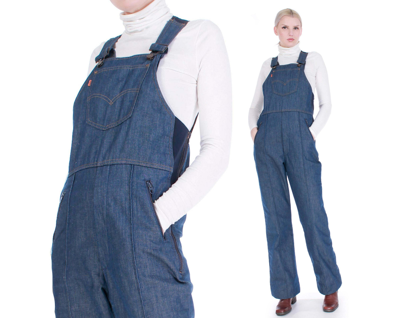 Vintage Overalls & Jumpsuits Vintage Levis Denim Insulated Snowsuit Jumpsuit Overalls Orange Tab Made in The Usa Size Lxl $0.00 AT vintagedancer.com