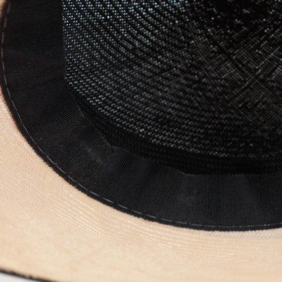 Vintage Wide Brim Straw Hat with Bow - image 8