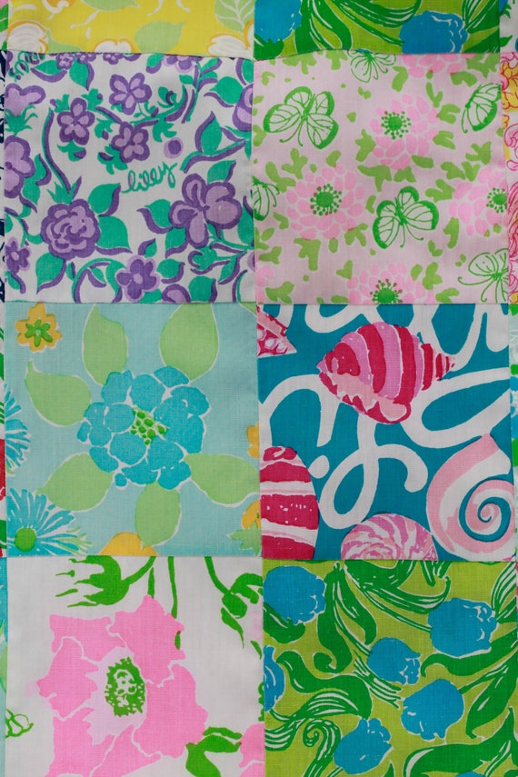 1960s Lilly Pulitzer The Lilly Patchwork Cotton M… - image 8