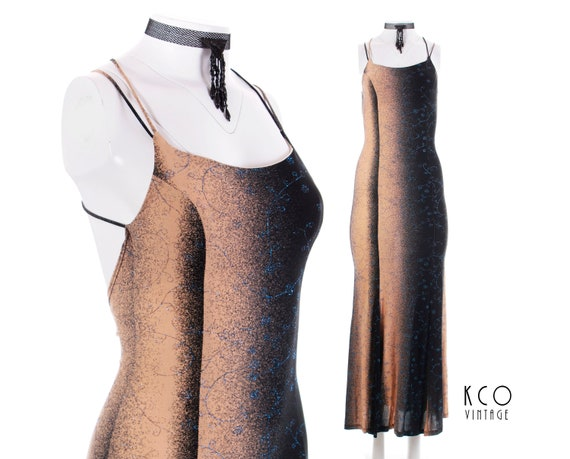 Metallic 28 Beige Dress Women's Bodycon Glitter Maxi Backless Dresses Caged Waist 22 Black Sparkle XS 1990's Vintage Clothing Ombre Blue qOUff