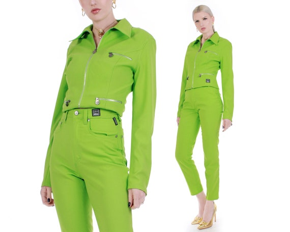 Perfect Vintage Versace Jeans Couture Lime Green J