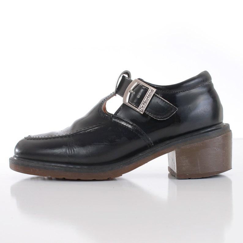 100ccead2a7e3 Vintage Dr Martens England Mary Janes Chunky Platform Shoes Size 9.5