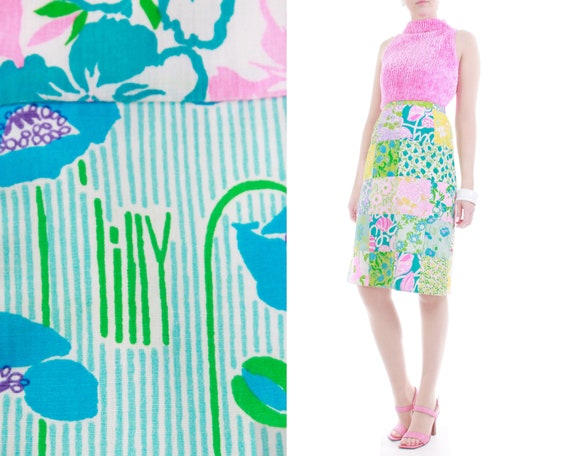 1960s Lilly Pulitzer The Lilly Patchwork Cotton M… - image 1