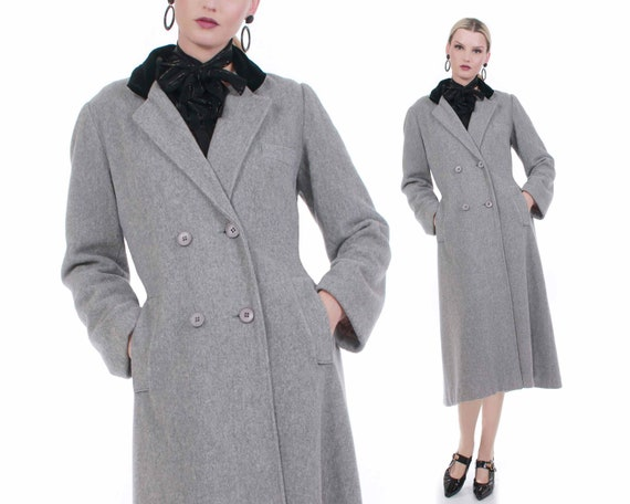 Vintage Gray Wool Princess Coat