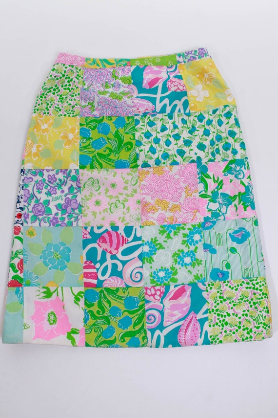 1960s Lilly Pulitzer The Lilly Patchwork Cotton M… - image 5