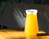 HAZY Ipa Glass - Glassware for Craft Beer - Handmade - Pretentious Glass Co