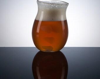 Hoppy Beer Glass, Universal Cut, Finger Prints, Beer Glass, Craft Beer, Glassware, IPA
