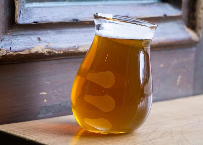 Hoppy Beer Glass Universal Cut Finger Prints Beer Glass image 0