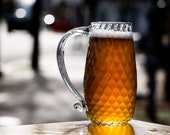 Nuevo English Beer Mug...aka Sparkles, Handmade Glassware