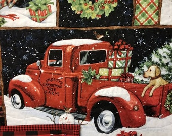 Red Truck Fabric Etsy