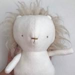 Cute baby lion - Sand color lion mane - Plush Toy  Minimalist design  Minimalist toy - Eco-friendly nursery Toy's - Baby shower gift