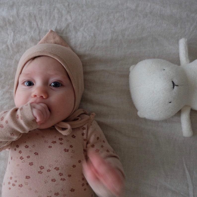 Baby polar teddy    Plush Toy  Minimalist design  Handmade image 0