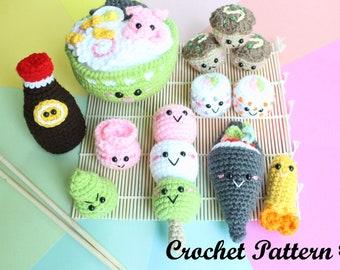 Crochet PATTERN Amigurumi Food Sushi Family II Crochet Pattern/ Sushi Set