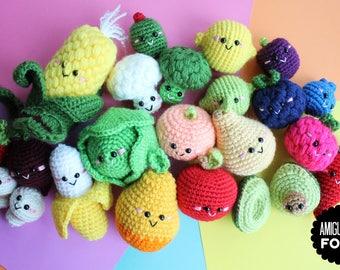 Crochet Pattern/ Amigurumi Food Fruits and Vegetables pattern/ PDF crochet pattern.