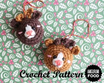 Crochet PATTERN Reindeer cookies Amigurumi ornament for the Christmas tree!