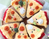 Crochet pattern Amigurumi Food! Combo Pizza Night + Beer Crochet Pattern Kawaii!