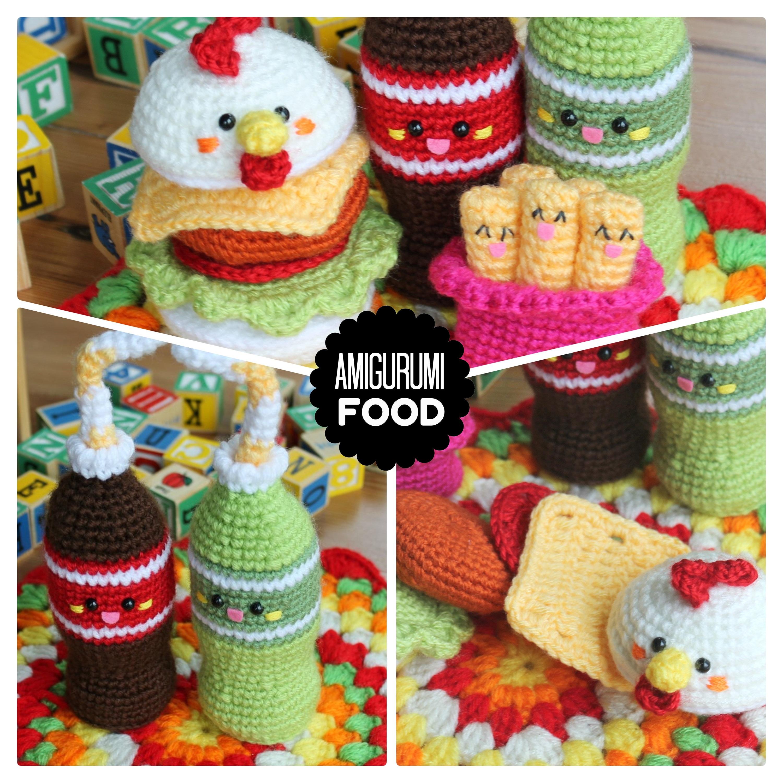 Crochet Pattern Amigurumi Foodchicken Burger Friends Etsy