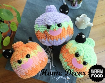 Home decor Halloween Pumpkin with little crow-Ready to ship!!! Fall decor