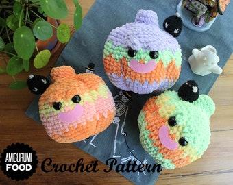 Crochet PATTERN/ Amigurumi Pumpkin Bulky Velvet/Chenille yarn Halloween Crochet Pattern