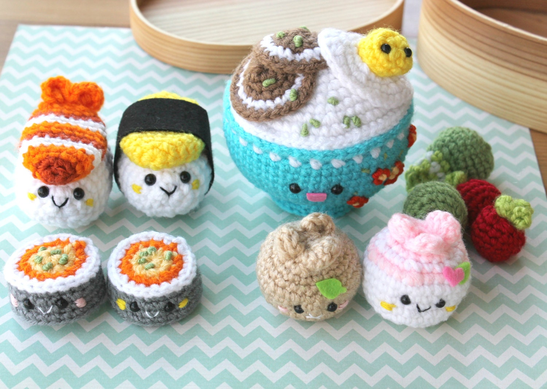 Crochet Pattern Amigurumi Food Bento Family Crochet