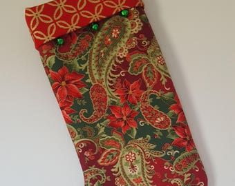Stocking Christmas Elegant Fabric