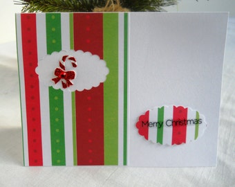 Christmas Card Set of 6 Candy Cane Stripes