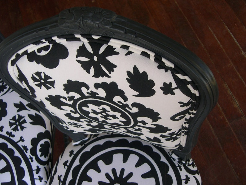 Customizable French KitchenDining Chairs ready for your choice of paint and fabric