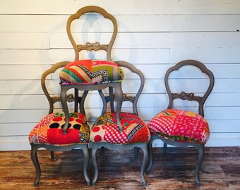 Boho Victorian Dining Chairs